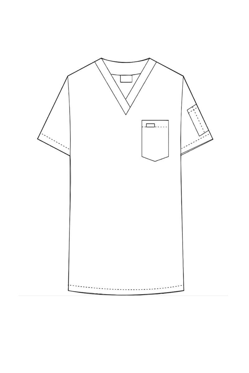 Unisex V-Neck Scrub Top
