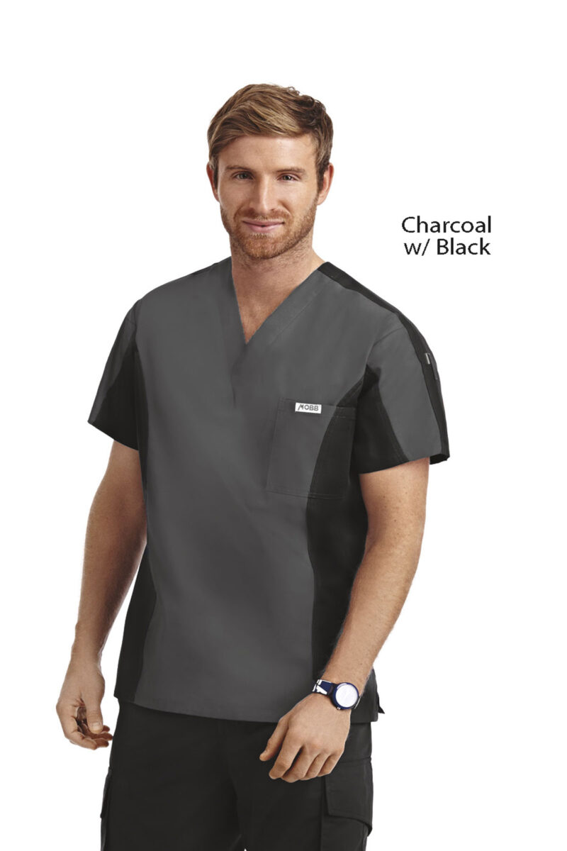 Men's Two Tone Scrub Top