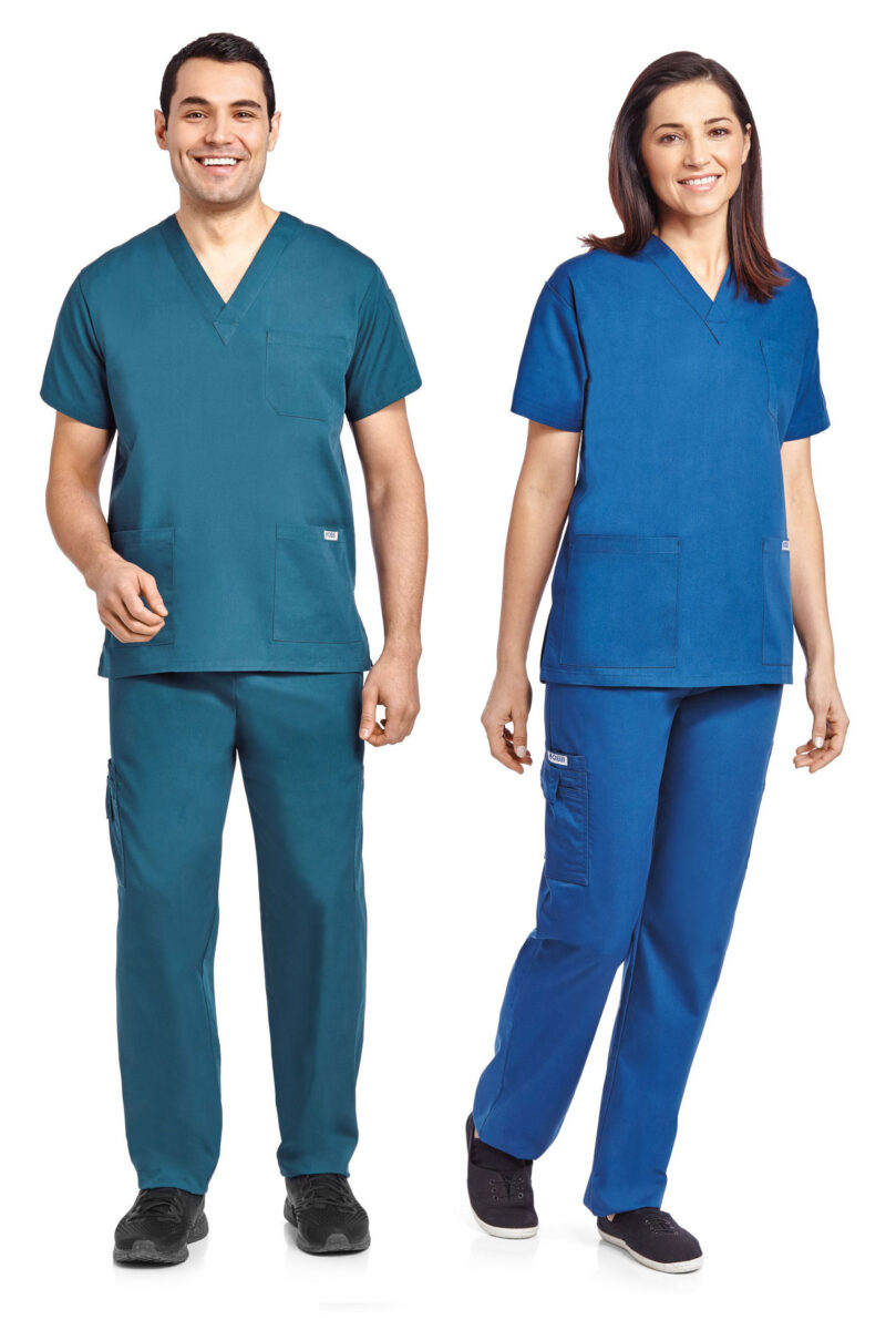 Unisex 8 Pocket Drawstring/Elastic Scrub Set