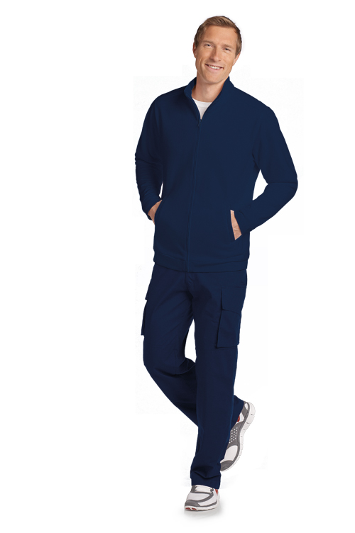 Men's Fleece Warm-up Zipper Jacket