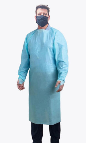 Disposable Isolation Gown – Blue